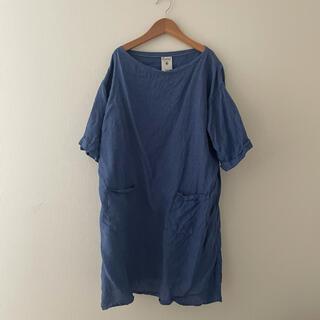 オーシバル(ORCIVAL)のオーシバル リネン チュニック 青 ブルー(チュニック)