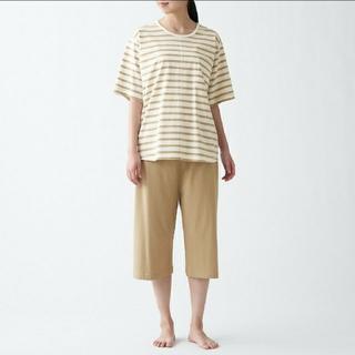 MUJI (無印良品) - 脇に縫い目のない 天竺編み 半袖ルームウェアセット S~M