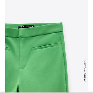 ZARA - タグ付き Zara フレアパンツ ミニフレアパンツ 緑 グリーン 2021年夏