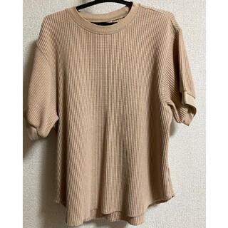 UNIQLO - UNIQLO ワッフルクルーネックTシャツ
