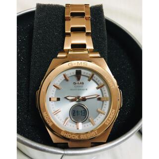 ベビージー(Baby-G)の最終価格【数回使用程度】G-MS ジーミズ 腕時計 ピンクゴールド(腕時計)