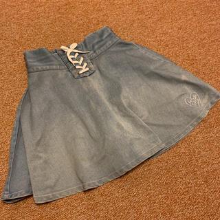 ピンクラテ(PINK-latte)のピンクラテ インナー付きスカート 150(スカート)