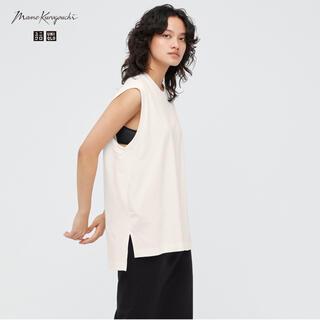 UNIQLO - UNIQLO☆マメクロエアリズムコットンオーバーサイズT☆Lサイズ