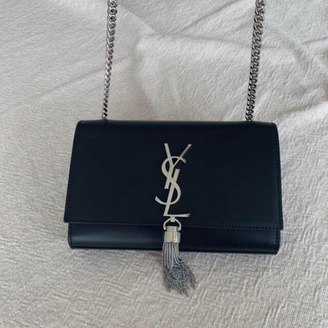 Yves Saint Laurent Beaute(イヴサンローランボーテ)のSaint Laurent サンローラン ケイト ショルダーバッグ ブラック レディースのバッグ(ショルダーバッグ)の商品写真