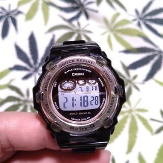 電波ソーラー 腕時計 CASIO Baby-G bgr-3003 ブラック