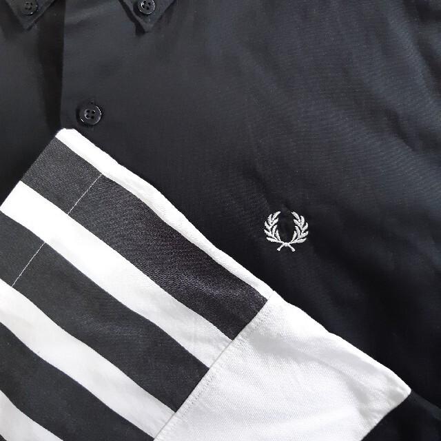 FRED PERRY(フレッドペリー)の【美品】FRED PERRY/フレッドペリー 半袖 シャツ 切替デザイン 月桂樹 メンズのトップス(シャツ)の商品写真