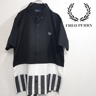 FRED PERRY - 【美品】FRED PERRY/フレッドペリー 半袖 シャツ 切替デザイン 月桂樹