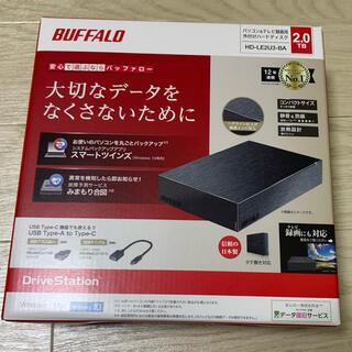 バッファロー(Buffalo)の(こーすけ様専用)BUFFALO 外付けHDD 2TB HD-LE2U3-BA(その他)