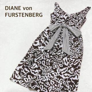 ダイアンフォンファステンバーグ(DIANE von FURSTENBERG)のDVF ダイアンフォンファステンバーグ ワンピース 総柄 サイズ4(ひざ丈ワンピース)