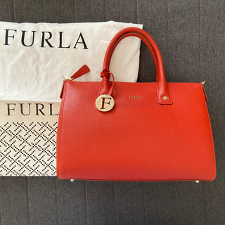 Furla - FURLA フルラ リンダ M サッチェルボストンバッグ オレンジレッド