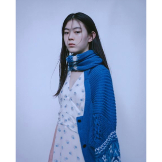 mame - 新品 Cotton Nordic Knit Cardigan