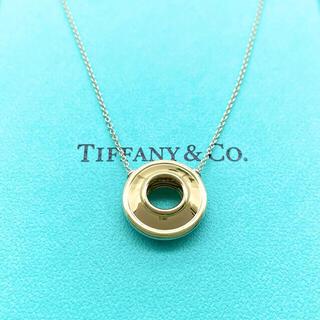 Tiffany & Co. - ティファニー ディスク ネックレス コンビ K18 シルバー サークル