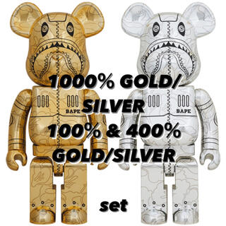 MEDICOM TOY - 1000% GOLD/SILVER 100%& 400% GOLD/SILVER