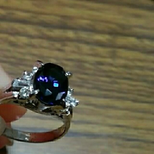 サファイアリング 4号 レディースのアクセサリー(リング(指輪))の商品写真