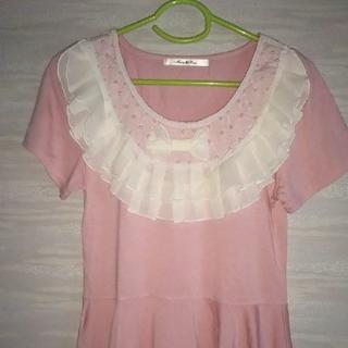 ⭐️レディース⭐️フリルレースつきTシャツ(Tシャツ(半袖/袖なし))