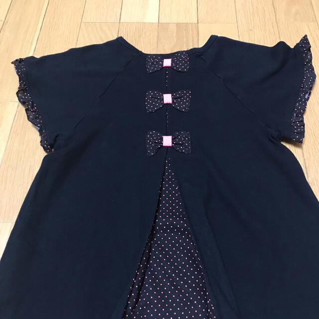 Shirley Temple(シャーリーテンプル)のシャーリーテンプル 130〜140cm リボン付き カットソー  Tシャツ キッズ/ベビー/マタニティのキッズ服女の子用(90cm~)(Tシャツ/カットソー)の商品写真