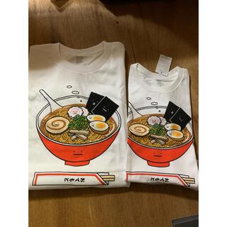 Design Tshirts Store graniph - グラニフ らーめん、餃子おもしろTシャツ 100サイズとLサイズ