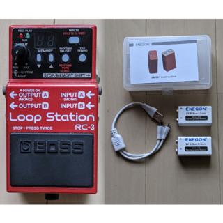 ボス(BOSS)の再値下げ❗️BOSS RC-3 Loop Stationと9V充電式リチウム電池(エフェクター)