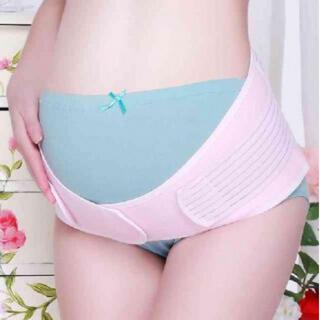 ピンク 妊婦帯 ダブルベルト 妊婦用 サポーター 腹帯 産後 骨盤ベルト(エクササイズ用品)