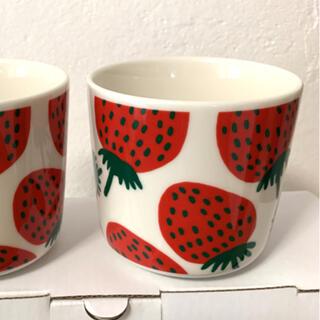 マリメッコ(marimekko)のマリメッコ ラテマグ マンシッカ マグカップ 1個(グラス/カップ)
