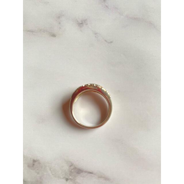 STAR JEWELRY(スタージュエリー)のスタージュエリー リング 指輪 3連 シルバー ゴールド K18 レディース レディースのアクセサリー(リング(指輪))の商品写真