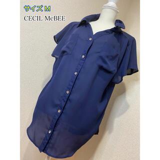セシルマクビー(CECIL McBEE)のCECIL McBEE シャツ ブラウス  素材軽め☆(シャツ/ブラウス(半袖/袖なし))