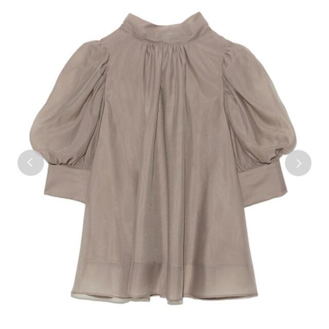 snidel(スナイデル)のsnidel  ハーフスリーブオーガンジーブラウス レディースのトップス(シャツ/ブラウス(半袖/袖なし))の商品写真