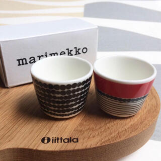 マリメッコ(marimekko)の新品 2個セット marimekko マリメッコ エッグカップ(食器)