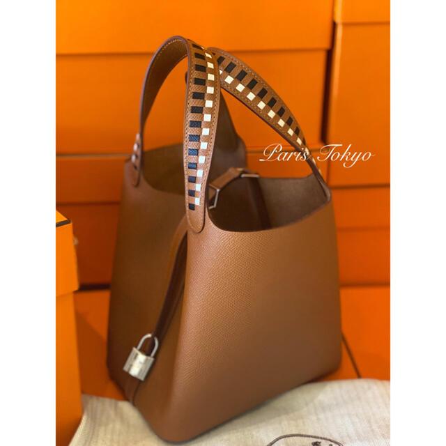 Hermes(エルメス)の希少品 エルメス ピコタンロックPM トレサージュ ゴールド ノワール クレ  レディースのバッグ(ハンドバッグ)の商品写真