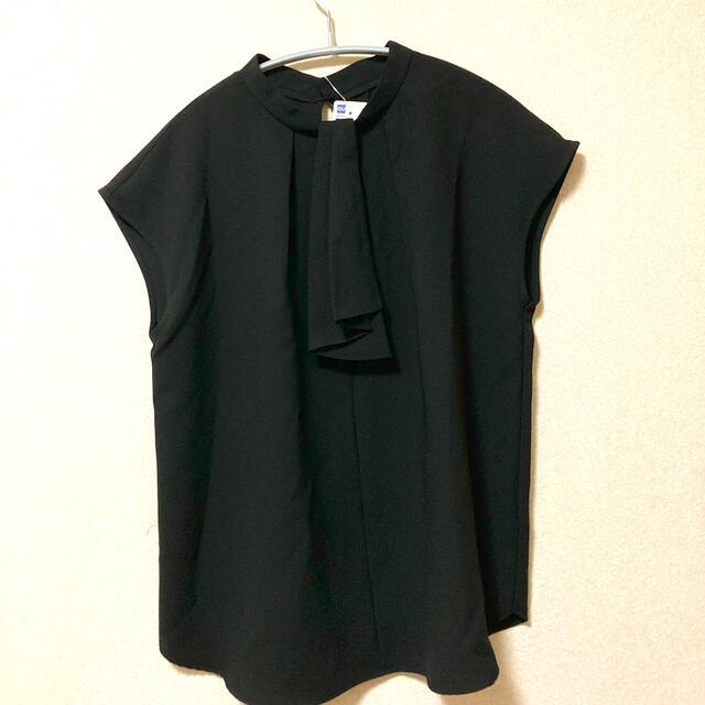 GU(ジーユー)のGU タイネックブラウス レディースのトップス(シャツ/ブラウス(半袖/袖なし))の商品写真