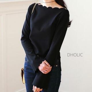 dholic - 【新品】DHOLIC / スカラップボートネックTシャツ【大人気商品】