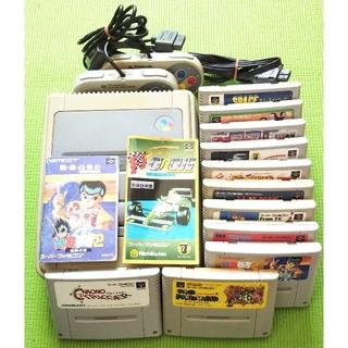 スーパーファミコン(スーパーファミコン)のスーパーファミコン 本体 ソフト11本セット SFC(家庭用ゲーム機本体)