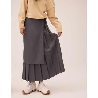 randeboo Warp pleats long skirt (Gray)