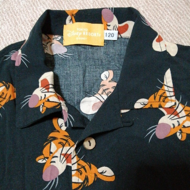 Disney(ディズニー)のDisney ティガー アロハシャツ キッズ/ベビー/マタニティのキッズ服男の子用(90cm~)(Tシャツ/カットソー)の商品写真