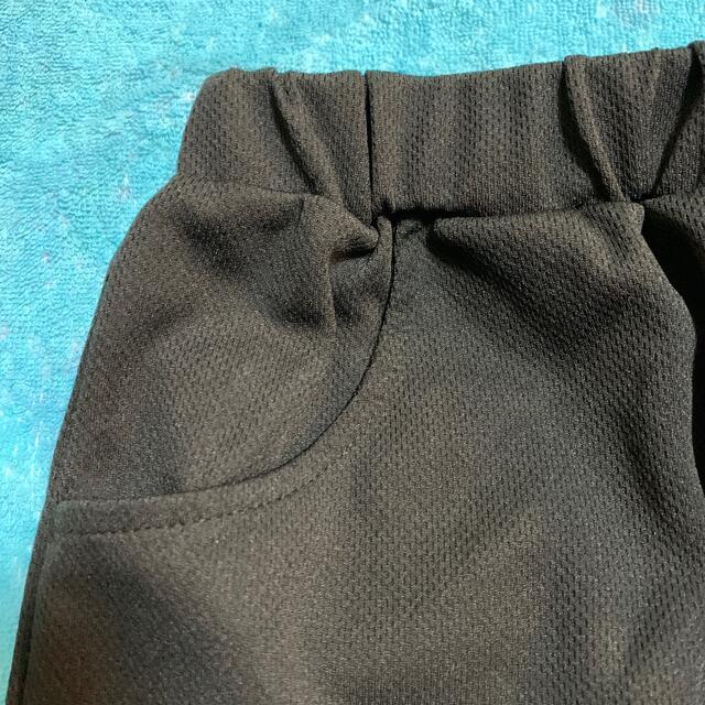 女児 Tシャツとショートパンツのセット 160サイズ ブラック キッズ/ベビー/マタニティのキッズ服女の子用(90cm~)(Tシャツ/カットソー)の商品写真