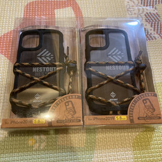ELECOM - スマホケース iPhone11 ケース NESTOUT ブラック 2セット