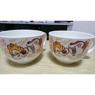 Disney - チップとデール スープカップ 2個セット