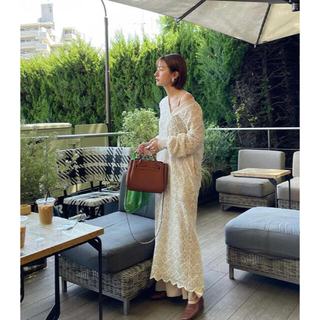 STUDIOUS - CLANE クラネ VINTAGE LACE LOOSE ONE PIECE