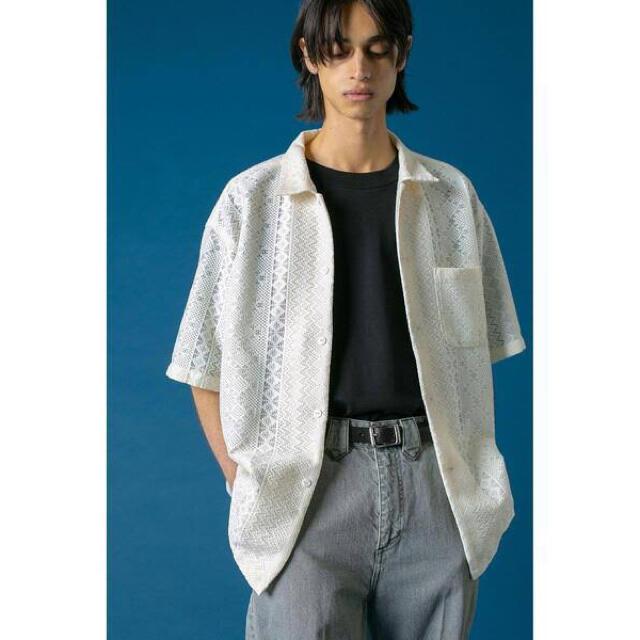 【未使用、タグ付】monkeytimeRASCHEL LACE SHT/シャツ メンズのトップス(シャツ)の商品写真