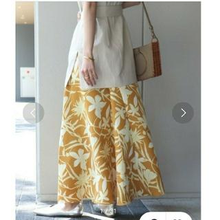 スピックアンドスパンノーブル(Spick and Span Noble)のNOBLE ノーブル☆ボタニカルプリントフレアーロングスカートSpic&Span(ロングスカート)