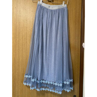 dholic - チュールスカート ロングスカート プリーツスカート