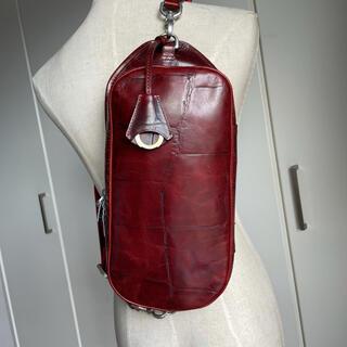 アニアリ(aniary)のアニアリ Aniaryクロコ型押しボディバッグ11ー07000中古レッドブラウン(ボディーバッグ)