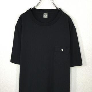 【美品】ジャックマン JACKMAN ポケットTシャツ 半袖 黒色 ブラック