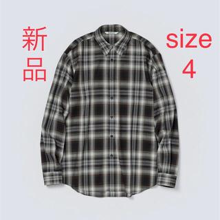オーラリー チェック シャツ 21AW  サイズ4