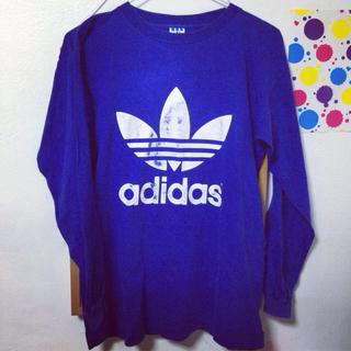 アディダス(adidas)のadidas/Tシャツ/ブルー(Tシャツ(長袖/七分))