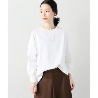 イエナ(IENA)のVERMEIL par iena 袖口タッククルーネックTシャツ(Tシャツ(長袖/七分))