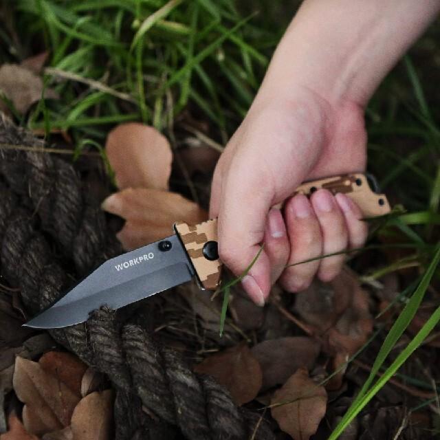 アウトドアナイフ 直刃 黒染め処理 実用的なナイフです スポーツ/アウトドアのアウトドア(登山用品)の商品写真