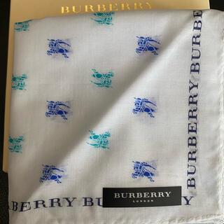 BURBERRY - 未使用 バーバリーハンカチ ホスマーク ブルー