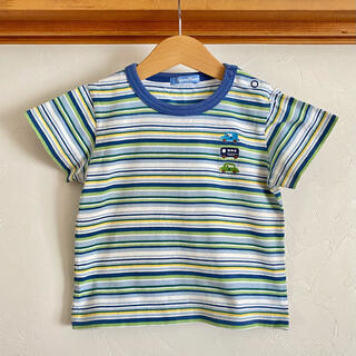 familiar - ファミリア Tシャツ 100 ボーダー トップス