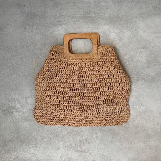 TODAYFUL(トゥデイフル)のバンブー ストローバッグ メッシュ ブラウン レディース かごバッグ お洒落 レディースのバッグ(かごバッグ/ストローバッグ)の商品写真